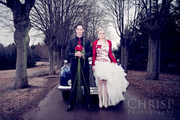 Hochzeitsfoto im Winter von Hochzeitsfotograf ChrisP Photography