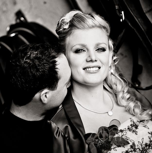 Edles Hochzeitsportrait von Hochzeitsfotografin Christina Puszkar