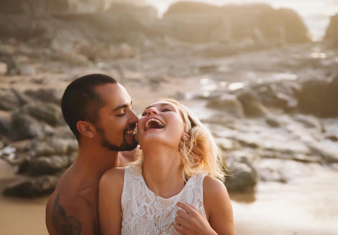 Hochzeitsportraits am Strand von Fotograf für Hochzeit auf Mallorca