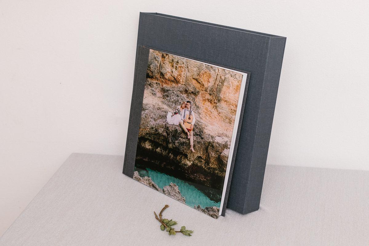 Handgefertigtes Hochzeitsalbum aus Acryl